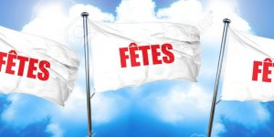 fetes, 3D rendering, triple flags
